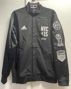Lakers Kobe Bryant Allstar New York 2015 medium authentic jacket warmup jersey