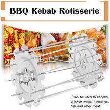 BBQ Steel Metal Roaster Rotisserie Skewers Needle Cage Oven Kebab Maker Grill