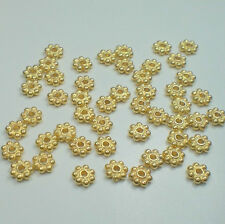 BALI 24K GOLD VERMEIL OVER .925 SS 3.5mm SHINY DAISY FLOWER SPACER BEADS (30)