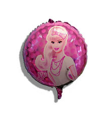 45cm Barbie Pink Round Helium Foil Balloons Decoration Girl Party Favor Supplies