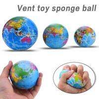 Mini Funny World Map Foam Earth Globe Stress Bouncy Ball Atlas Geography Toy Hot