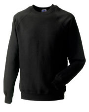 RUSSELL Raglan SWEATSHIRT 762M Jumper Top Casual Work Combed Wingspan Cotton