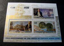 Souvenir Sheets Foreign Cook Islands Scott# 501a Capt. Cook 1978  MNH C503