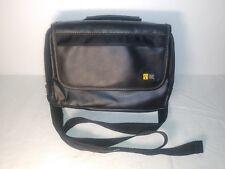 Case Logic Brief Case Messenger Bag Black Leather With Audio Jack