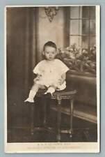 "Prince Jean ""Grand Duc"" LUXEMBOURG Royalty RPPC Antique Photo Foto Duke 1910s"