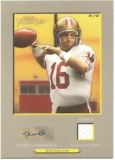 Joe Montana 2006 Topps Turkey Red  Cabinet Card Autograph Relic # 1 of 75