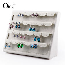 Linen Jewelry Earing Ear Stud Jewelry Display Shelf Rack for Counter