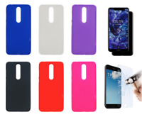"Case Cover Gel TPU Silicone For Nokia 5.1 Plus (4G) 5.86"" + Optional Protector"