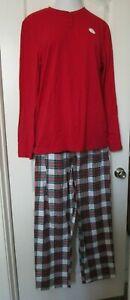 Macy's family Pj's Men's two piece pajama set  Size XX-Large Red print