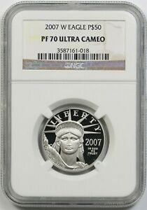 2007-W Platinum Eagle $50 Half-Ounce PF 70 Ultra Cameo NGC 1/2 oz Platinum .9995