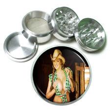 Farmers Daughter Pin Up Girls D6 63mm Aluminum Kitchen Grinder 4 Piece Herbs