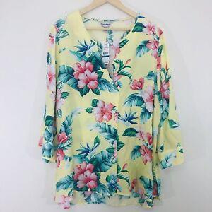 Tommy Bahama Womens Floral Top Sz XL NWT MRSP $115