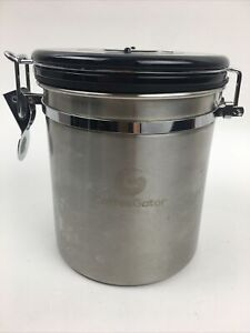 Coffee Gator Canister Stainless Steel Coffee Grounds and Beans Container