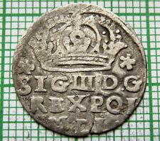 POLAND LITHUANIA COMMONWEALTH SIGISMUND III 1623 GROSCH - GROSZ KORONNY, SILVER