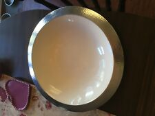 gorgeous Aluminum Bowl, 15-Inch - White Center- food safe By Mullally Int.