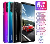 X27/X27 Plus Unlocked Smart Phone 5.0/5.7'' Android 8.0 HD Dual SIM Mobile Phone