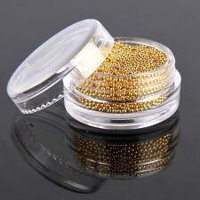 Golden Color 1mm 3D Metallic Nail Art Micro Caviar Beads Decoration Manicure