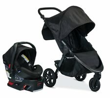 Britax B-Free Travel System Stroller with B-Safe Ultra Infant Car Seat Midnight