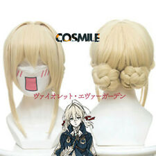 Styled Violet Evergarden Cosplay Braid Hair Wig Light yellow Anime New 2018