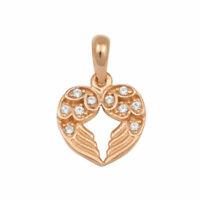 Collier Massiv Gold 585 Gold Kette mit Anhänger Herz Rotgold 14Kt Halskette 45cm