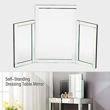 Modern Makeup Dressing Table Bevelled Tabletop Mirrors Bedroom Furniture
