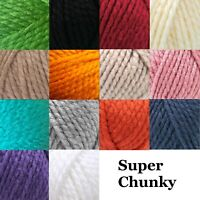 Robin Super Chunky Wool Knitting Yarn Knit Crochet 18 Colours 100g Balls