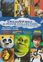 DREAM WORKS 4-MOVIE COLLECTION (DRAGON / SHREK / KUNG FU PANDA / MADAGASCA (DVD)
