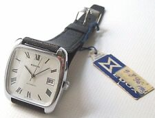 N.O.S. VINTAGE 70´s EDOX AUTOMATIC CAL 2484 SWISS WATCH, GENTS, DATE, ST-STEEL
