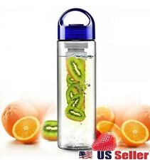 NEW 700 ML BLUE CAP FRUIT INFUSING INFUSER WATER BOTTLE SPORTS HEALTH
