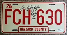 CATHERINE BACH Signed Autographed License Plate, FCH 630, Hazzard County, JSA