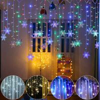 3.5M LED Lichterkette Stern LichterVorhang Fenster Weihnachtsdeko Balkon Lichter
