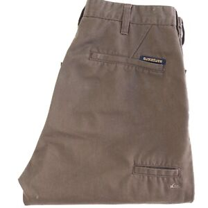 QUIKSILVER Mens Chino Pants Brown Mid-High Rise Straight Leg Size 36S VGC