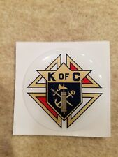 "KNIGHTS OF COLUMBUS FULL COLOR 2""  INCH EPOXY DOME CAR DECAL STICKER EMBLEM"