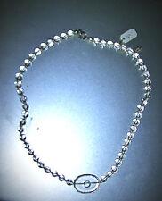 Kugel Bergkristall  Kette 41cmSilber Verschluß decorativ