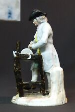 18ème superbe porcelaine groupe Meissen saxe 990g 24cm le rémouleur en habits