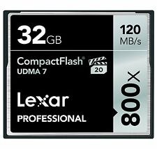 Lexar UDMA 7 800x 32GB Compact Flash CF Memory Card Camera DSLR VPG-20 120MB/s