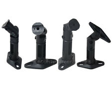 Black 4 Universal Wall / Ceiling Satellite Speaker Mounts Brackets fit BOSE BS4
