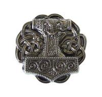 Hebilla de Cinturón Martillo Y Nudos Viking Gris Estaño