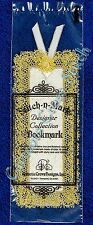 Bookmark to Cross Stitch Metallic Gold 18 Count Aida With Lace OOP