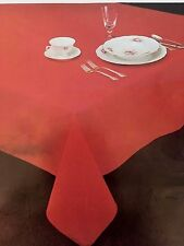 Beautiful PolyesterTablecloth, Chocolate Brown Pattern, 60 X 124 Oval,Harbox5,14