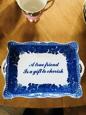 Godinger Mini Tray Wall Sign Plate A True Friend is a Gift to Cherish Gilt Gold