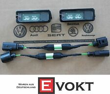 VW Passat CC License Plate LED Lights + Adapters For Retrofitting Genuine New