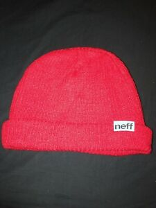 Neff Knitted Beanie Red