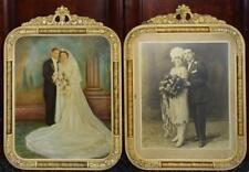 Pr Antique Ornately Carved Wood Frames Lot 159