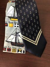 Lot of 2 Mens Vintage Nautical Themed Neck Ties John Henry, Rooster EUC