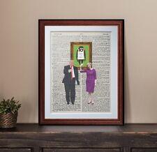Donald Trump Teresa May Vs Banksy dictionary page vintage art print gift poster