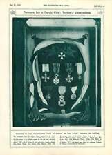 1916 insignias de mérito Verdun ciudad tributos Poincare