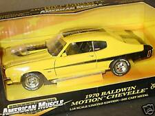 ERTL 1/18, 1970 BALDWIN MOTION CHEVELLE, Yellow-Black