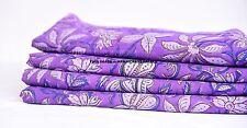 Indian Hand Block Print 100% Pure Cotton Jaipuri Floral Printed Fabric 10 Yard