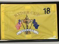 Stewart Cink Signed VALHALLA Ryder Cup FRAMED Golf Pin Flag JSA COA!